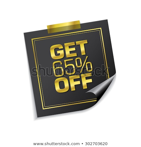 Get 65 Precent Off Golden Sticky Notes Vector Icon Stock photo © rizwanali3d