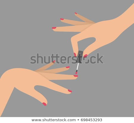 Hands of a lady with painted nails  Stock photo © shawlinmohd