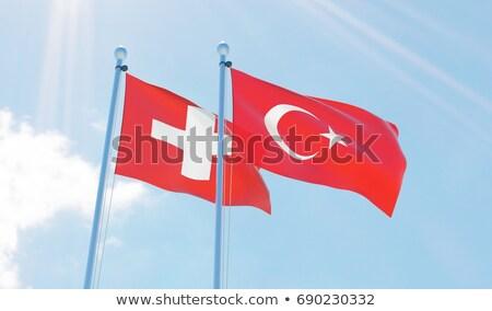 スイス トルコ フラグ パズル 孤立した 白 ストックフォト © Istanbul2009