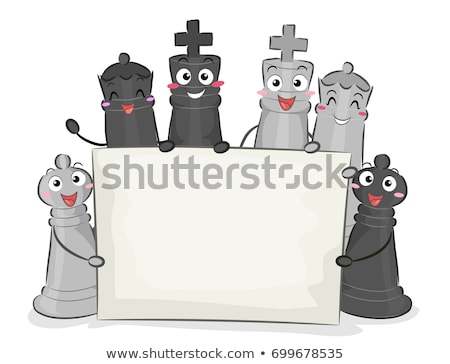 Chess banner with two pawn, vector illustration Stock photo © carodi