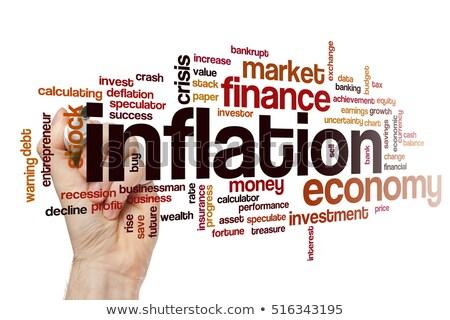 Inflação palavra eletrônico calculadora dinheiro financiar Foto stock © fuzzbones0
