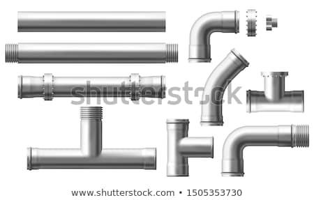 パイプ 蒸気 水 技術 青 工場 ストックフォト © avq