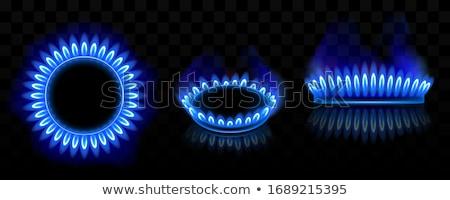 ガス · ステンレス鋼 · 選択フォーカス · キッチン · 青 · 難 - ストックフォト © stoonn