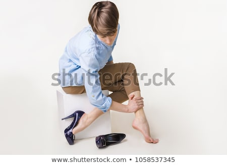 Aderen vrouw gezondheidszorg lichaam massage pijn Stockfoto © Kurhan