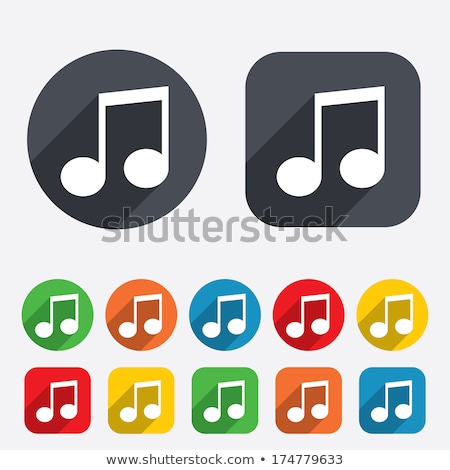 Music Notes Yellow Vector Icon Button Stock photo © rizwanali3d