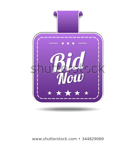 Bid Now Violet Vector Icon Design Stock photo © rizwanali3d