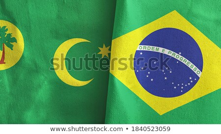 Brazil and Cocos (Keeling) Islands Flags Stock photo © Istanbul2009