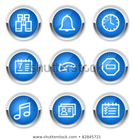 Kék vektor ikon gomb háló digitális Stock fotó © rizwanali3d