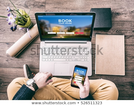 travel tour online working concept stock photo © tashatuvango