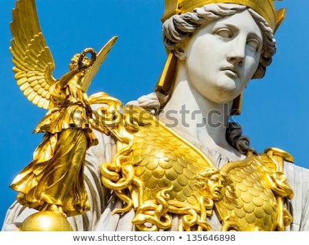 parlamento · Viena · Austria · estatua · hombre · caballo - foto stock © vladacanon