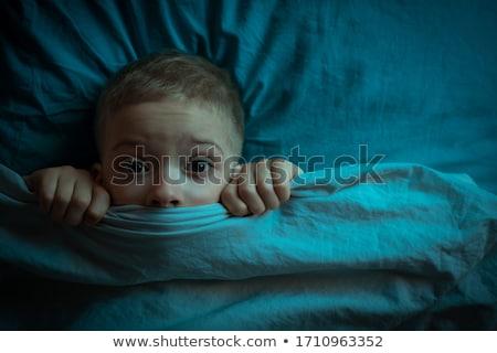 ужасный испуганный человека лице рук Сток-фото © filipw