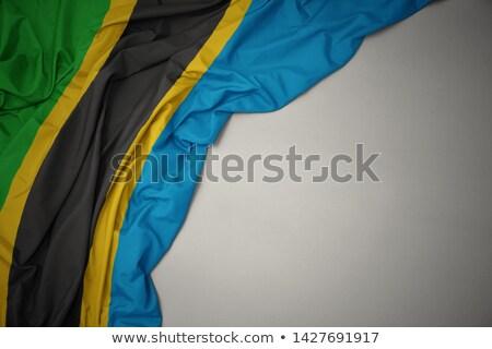 Liebe Tansania Zeichen isoliert weiß Flagge Stock foto © MikhailMishchenko