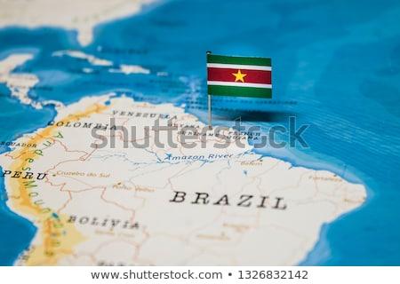 карта · Суринам · розовый · вектора · изолированный - Сток-фото © rbiedermann