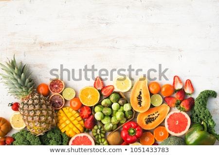 Tabeli witaminy zestaw żywności ikona zorganizowany Zdjęcia stock © Winner