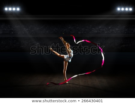 girl is engaged in gymnastics Stock photo © Paha_L