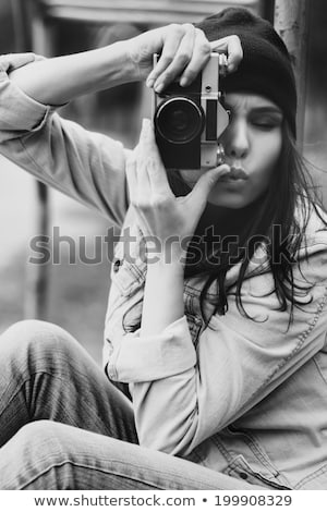 Fashion portrait shoot of a beautiful teen girl  Stock photo © mrakor
