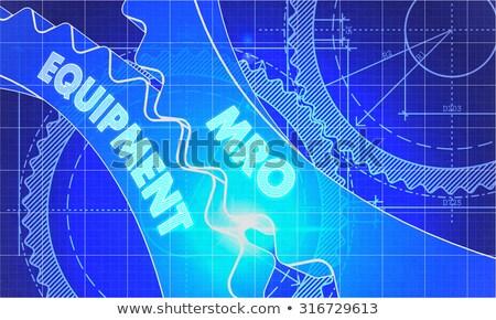 Maquinaria engrenagens diagrama estilo mecanismo técnico Foto stock © tashatuvango