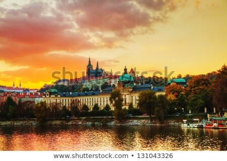 overview of old prague czech republic stock photo © andreykr