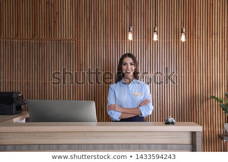 受付 · 文書 · デスク · 小 · ホステル · ビジネス - ストックフォト © RazvanPhotography