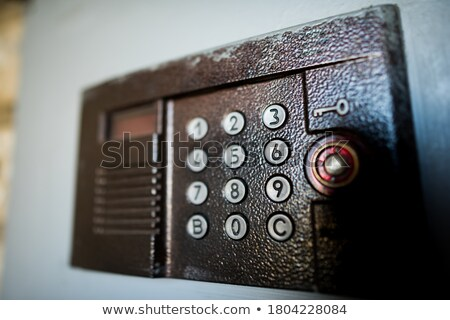 interphone on dark background Stock photo © constantinhurghea