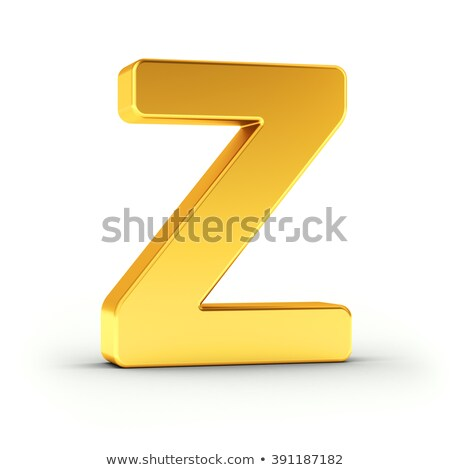 The letter Z as a polished golden object with clipping path Stock photo © creisinger