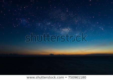 Stock fotó: Ocean And Sunset On The Dark Sky