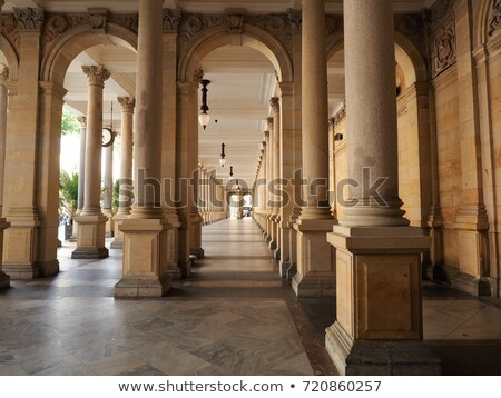 Karlovy Vary Mill Colonnade Corridor  Stock photo © vichie81