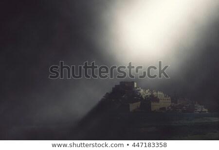 Château vue plage effet bâtiment Photo stock © amok