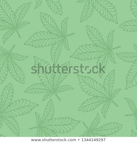 Stock photo: Seamless cannabis pattern