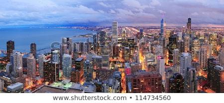 Chicago · ufuk · çizgisi · panorama · gökdelenler · göl - stok fotoğraf © capturelight