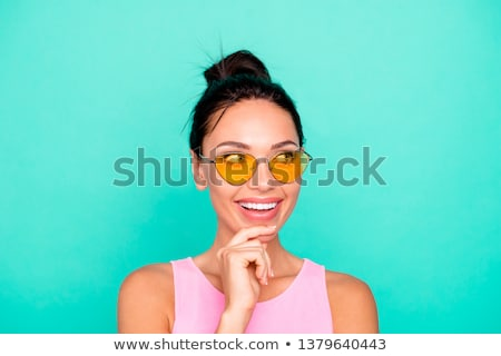 perfect fashionable lady wearing sunglasses stock photo © konradbak