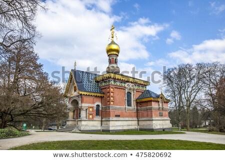 Ruso ortodoxo mal cielo azul cielo ciudad Foto stock © meinzahn