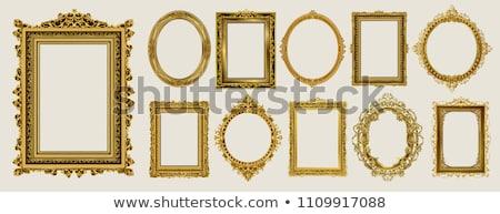 oval · antiguos · marco · de · imagen · aislado · ilustración · madera - foto stock © goir