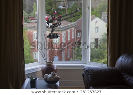 Helicóptero fuera ventana ilustración ojo diseno Foto stock © bluering