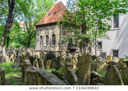 Foto stock: Edad · cementerio · Praga · República · Checa