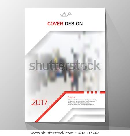 блокнот охватывать дизайна синий зеленый фото Сток-фото © vipervxw