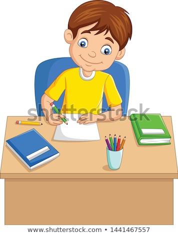 Chłopców piśmie ściany biały twarz moda Zdjęcia stock © bluering