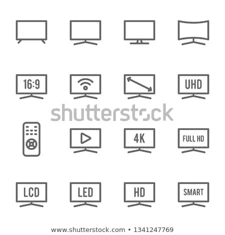 Hd телевизор икона иллюстрация тень дизайна Сток-фото © nickylarson974