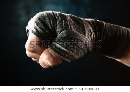 Mão muscular homem bandagem treinamento Foto stock © master1305