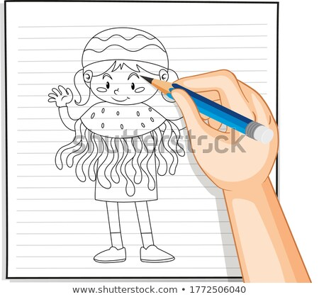 Little girl in jellyfish costume Stock photo © bluering