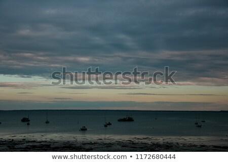 vissen · boten · zandstrand · zand · strand · hemel - stockfoto © capturelight