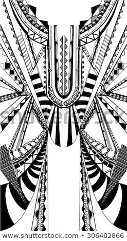 vecteur · blanc · noir · zigzag · diagonal · lignes - photo stock © creatorsclub