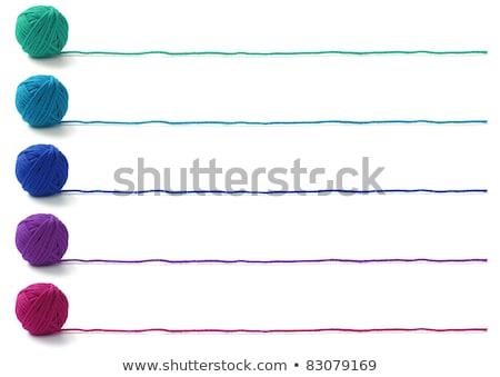 five purple ball Stock photo © blackmoon979