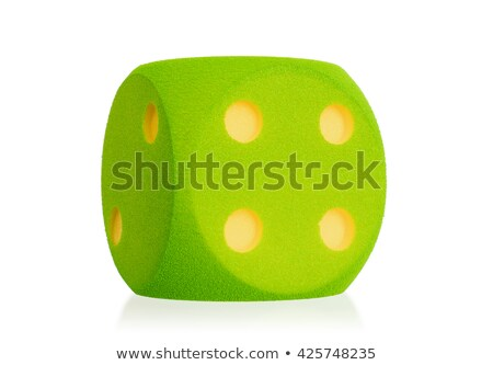 Large green foam die isolated - 4 Stock photo © michaklootwijk
