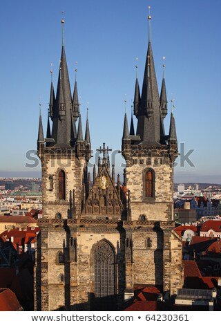 Nave of St Vitus' s Cathedral. Prague, Czech Republic Stock photo © Kirill_M