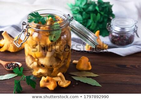 Pickled Chanterelle Mushrooms Stock photo © zhekos