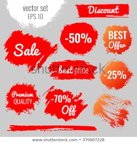 Colorful Round Sale Labels Stock photo © orson