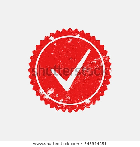 Foto stock: Certified Rubber Stamp With Check Mark