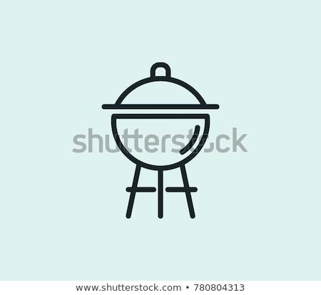 Outdoor grill line icon. Stock photo © RAStudio