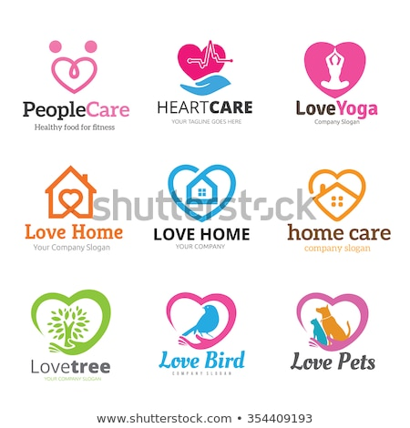 human heart and health care symbols cardiology icons stock photo © tefi